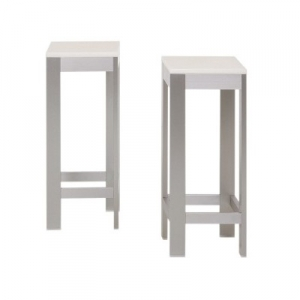 tabouret aluminium blanc tous les objets de d coration sur elle maison. Black Bedroom Furniture Sets. Home Design Ideas