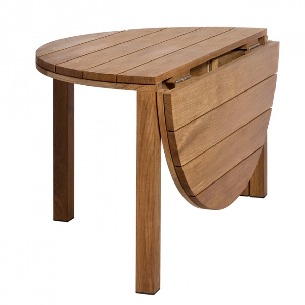 Table jardin teck ronde pliante des id es for Table pliante en teck